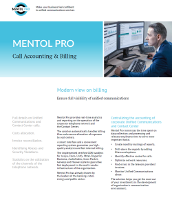 Call Accounting & Billing