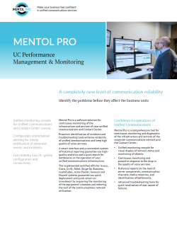 UC Performance Management & Monitoring